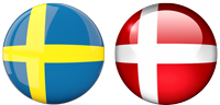 Sweded-Denmark-flags